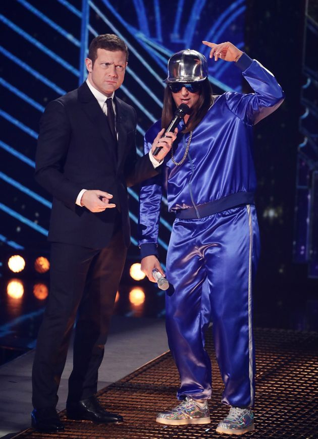 Honey G challenged Ed Balls to a dance off on 'The X