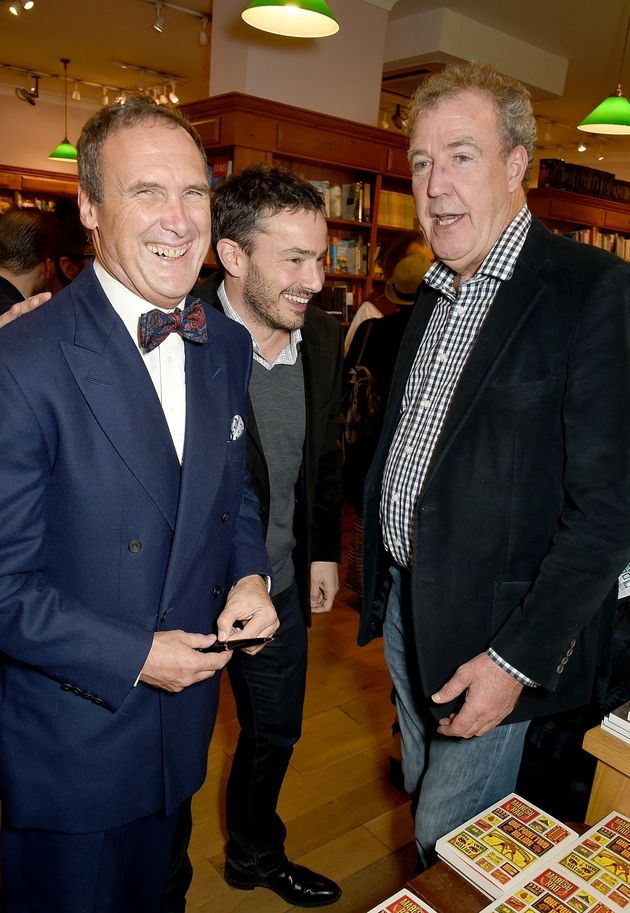 A.A. Gill, Giles Coren and Jeremy Clarkson attend the launch of A.A. Gill's new book 'Pour Me: A Life'...