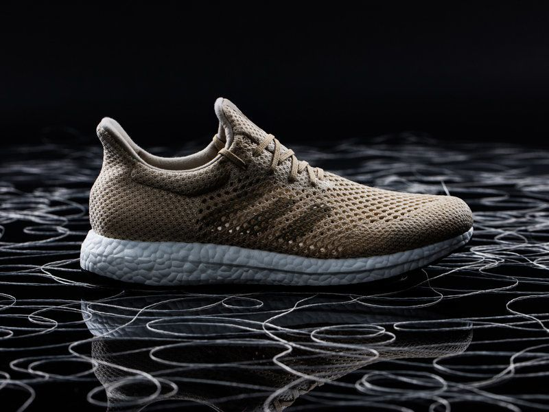 Adidas has unveiled a running shoe that features 100% biodegradable fabric. The Futurecraft Biofabric, pictured, is currently