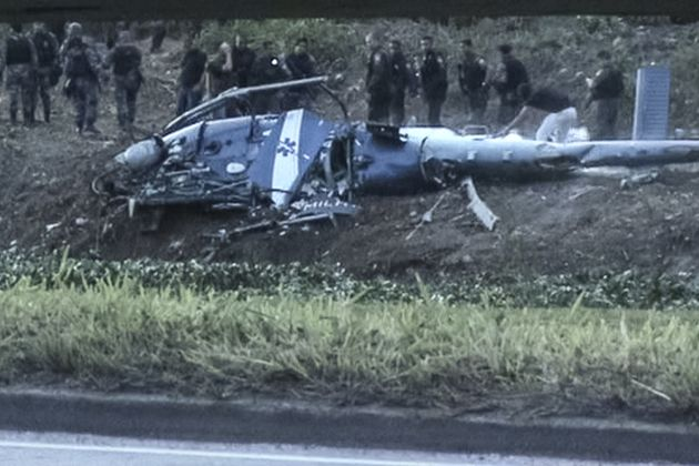 Police helicopter goes down in Brazil, 4 dead