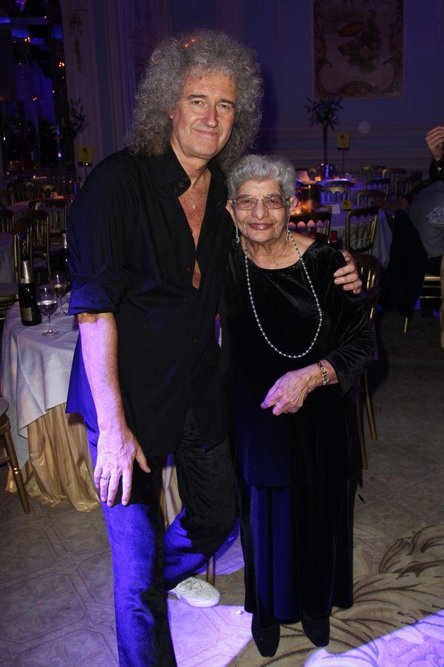 Jer Bulsara with Freddie's Queen bandmate Brian