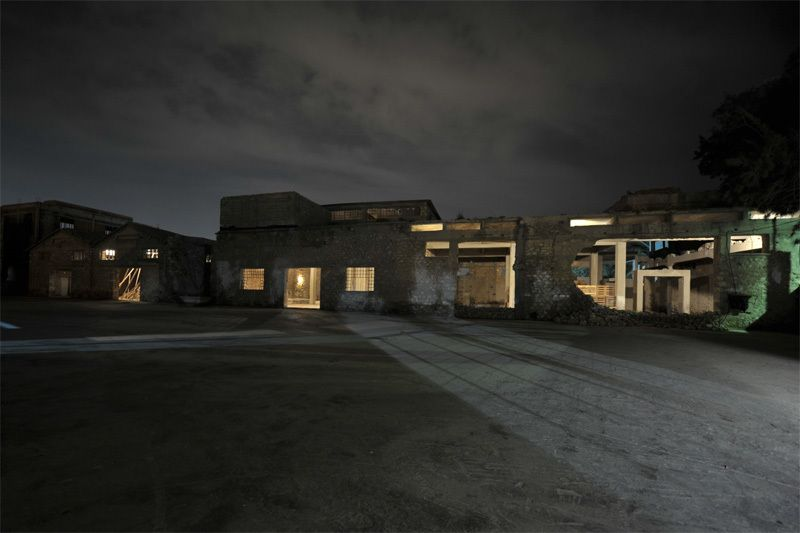 Old Oil Factory - Installation in 7 Buildings, Eleusina Greece, 2010