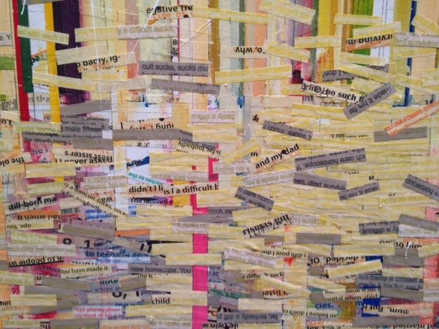 Detail of a work by Trevor Norris