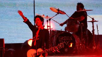 "Green Day performs ""Bang Bang"" at the 2016 American Music Awards in Los Angeles, California, U.S., November 20, 2016. REUTERS/Mario Anzuoni"