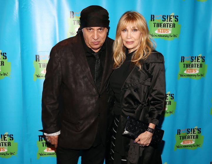 """Steven Van Zandt, pictured with wife Maureen Van Zandt in September, said the cast members of """"Hamilton"""" """"took unfair a"""