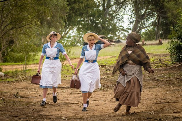 Barbara (Charlotte Ritchie), Nurse Trixie Franklin (Helen George) have to head out to help a local