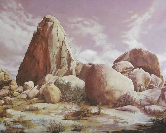 <em>Jumbo Rock</em>, oil on canvas, 48 x 60 in.