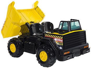Many online reviewers have complained about the batteries of the Tonka 12V Ride-On Dump Truck, pictured above.