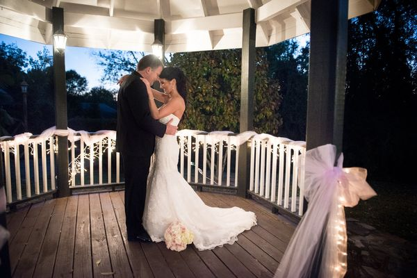 """""""Penny and Michael were married this Saturday during a sunset ceremony under the gazebo at the Corley Mill House in Columbia"""