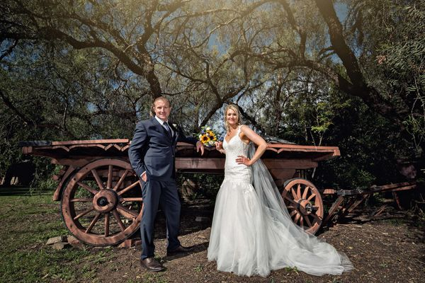 """""""It rained heavily the day before but it was bright and sunny when David and Selena got married in the SunnyBrae Estate, Sout"""