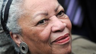 Nobel-winning US novelist Toni Morrison attends the unveiling ceremony of a memorial bench marking the abolition of slavery in Paris (the first to be inaugurated outside the United States by the Toni Morrison Society) on November 5, 2010 in Paris. Morrison, author of 'Beloved' and whose poetic novels on slavery and the African-American experience earned her the Pulitzer and Nobel prizes, in 1988 and 1993, was awarded yesterday a city of Paris medal honouring thinkers and artists with strong ties to the capital, a day after receiving France's highest decoration, the Legion of Honour. AFP PHOTO FRANCK FIFE        (Photo credit should read FRANCK FIFE/AFP/Getty Images)