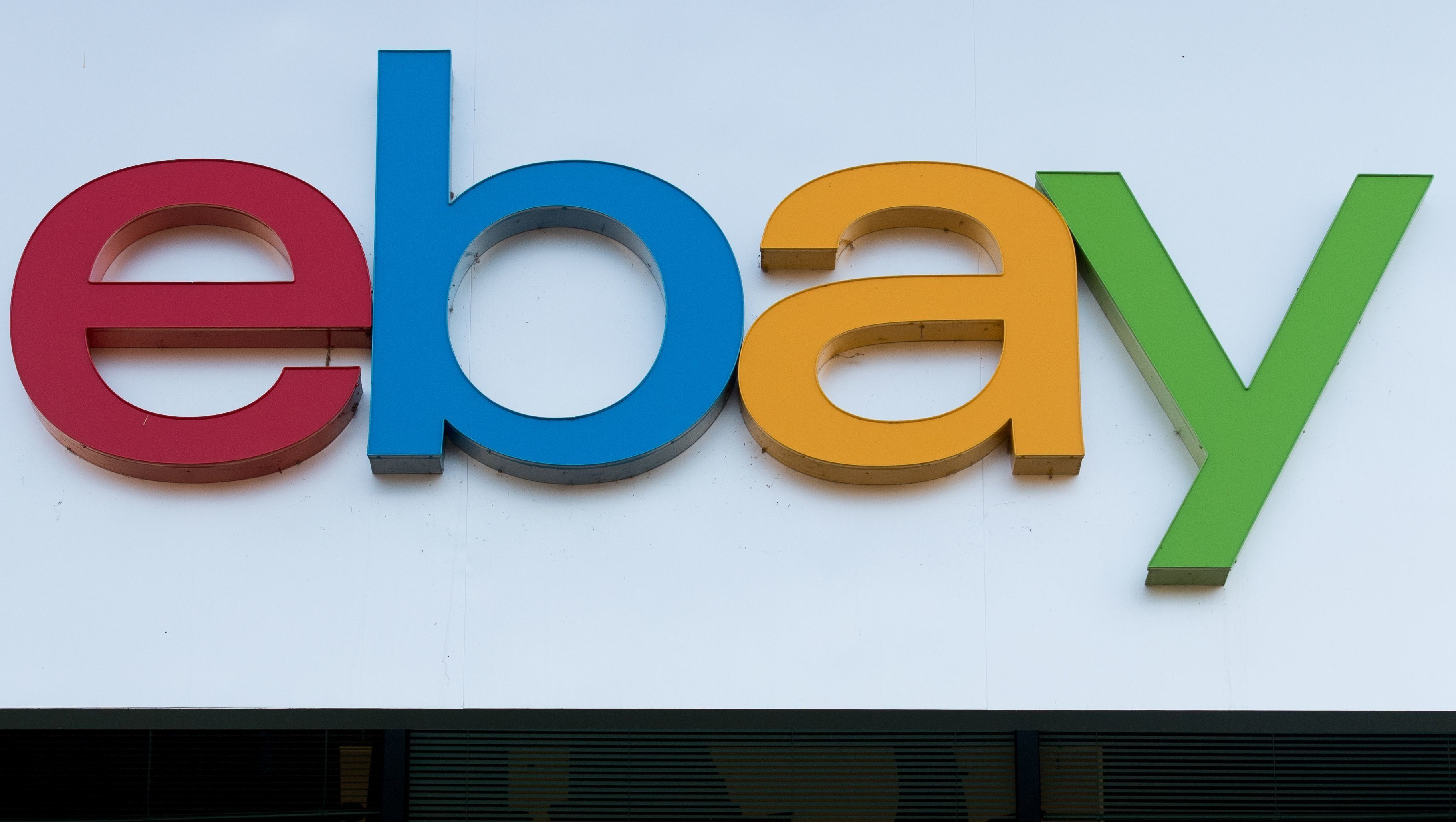An Ebay sign and logo is seen in San Jose, California on November 4, 2016.  / AFP / JOSH EDELSON        (Photo credit should read JOSH EDELSON/AFP/Getty Images)