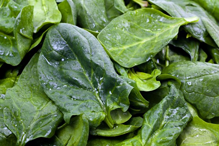 Spinach was one of the salad leaves tested in the trial.