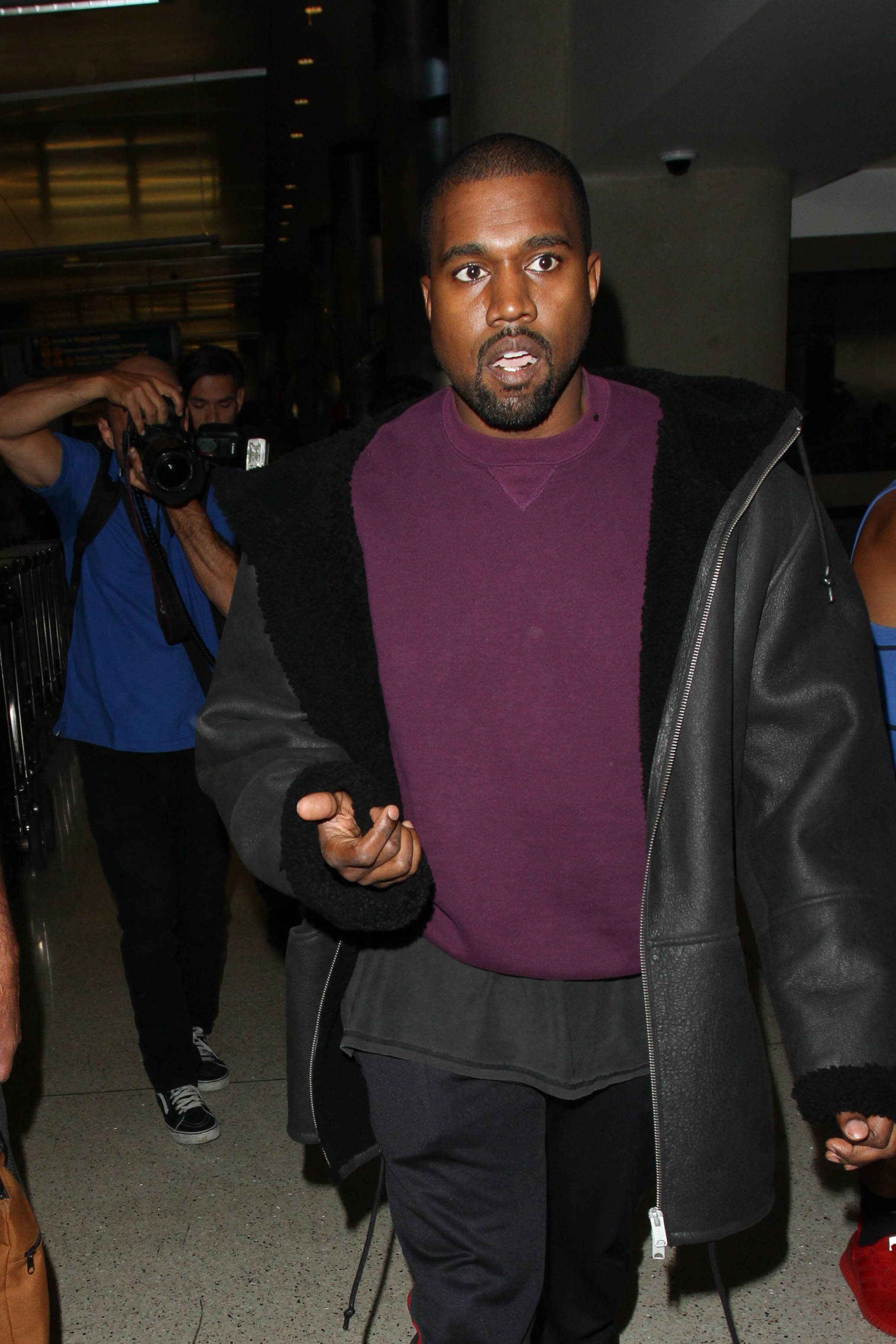Kanye West seen on Nov. 11 in Los Angeles.