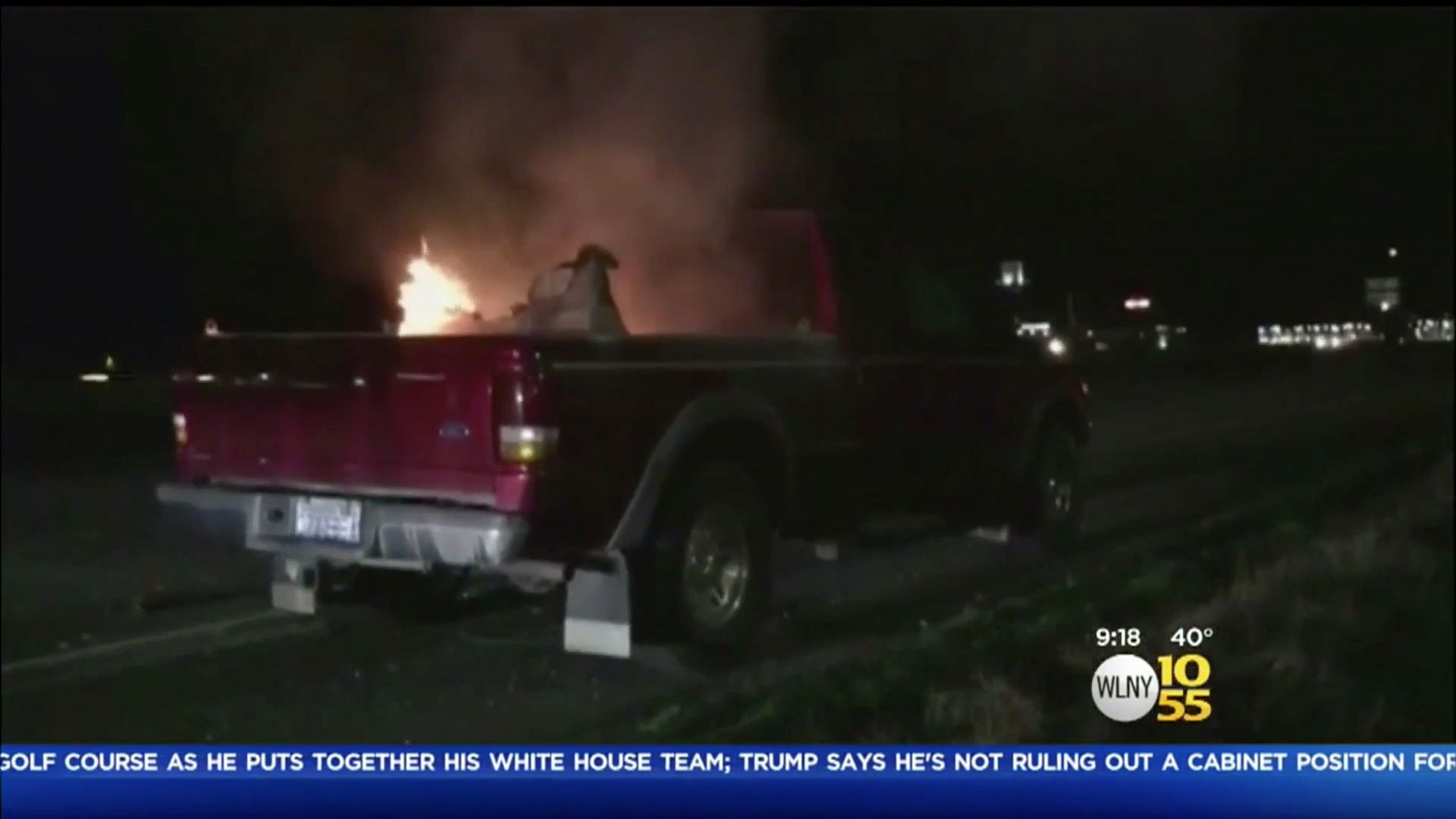 A Washington couple says a toy Tonka truck purchased for their grandson burst into flames inside their pickup truck