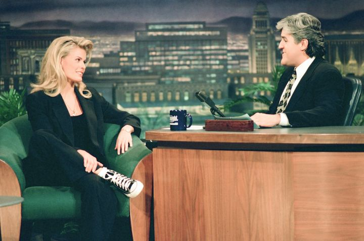 "Vendela Kirsebom on ""The Tonight Show"" in 1994, with Jay Leno."