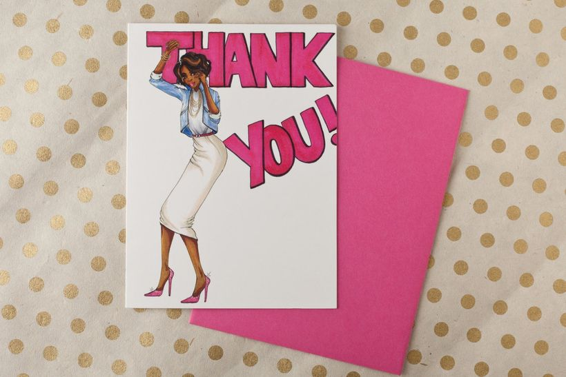 Gayle Thank You Cards from www.maebonline.com