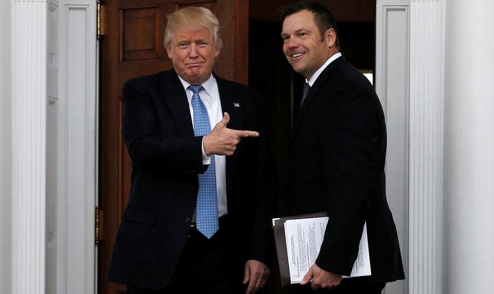 Kansas Secretary of State Kris Kobach met with President-elect Donald Trump Monday.