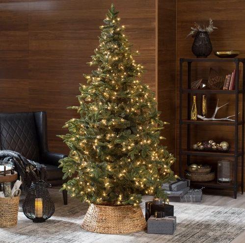 "Belham Living Natural Evergreen Pre-Lit Tree (7.5 feet),$199.98 at <a href=""http://www.hayneedle.com/product/75-ft-natu"