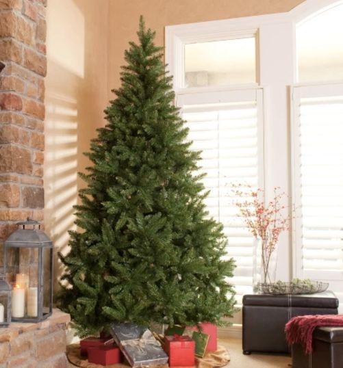 "Finley Home Classic Full Pine Tree, $89.98 at <a href=""https://www.amazon.com/Classic-Pine-Full-Unlit-Christmas/dp/B005TVTBG4"