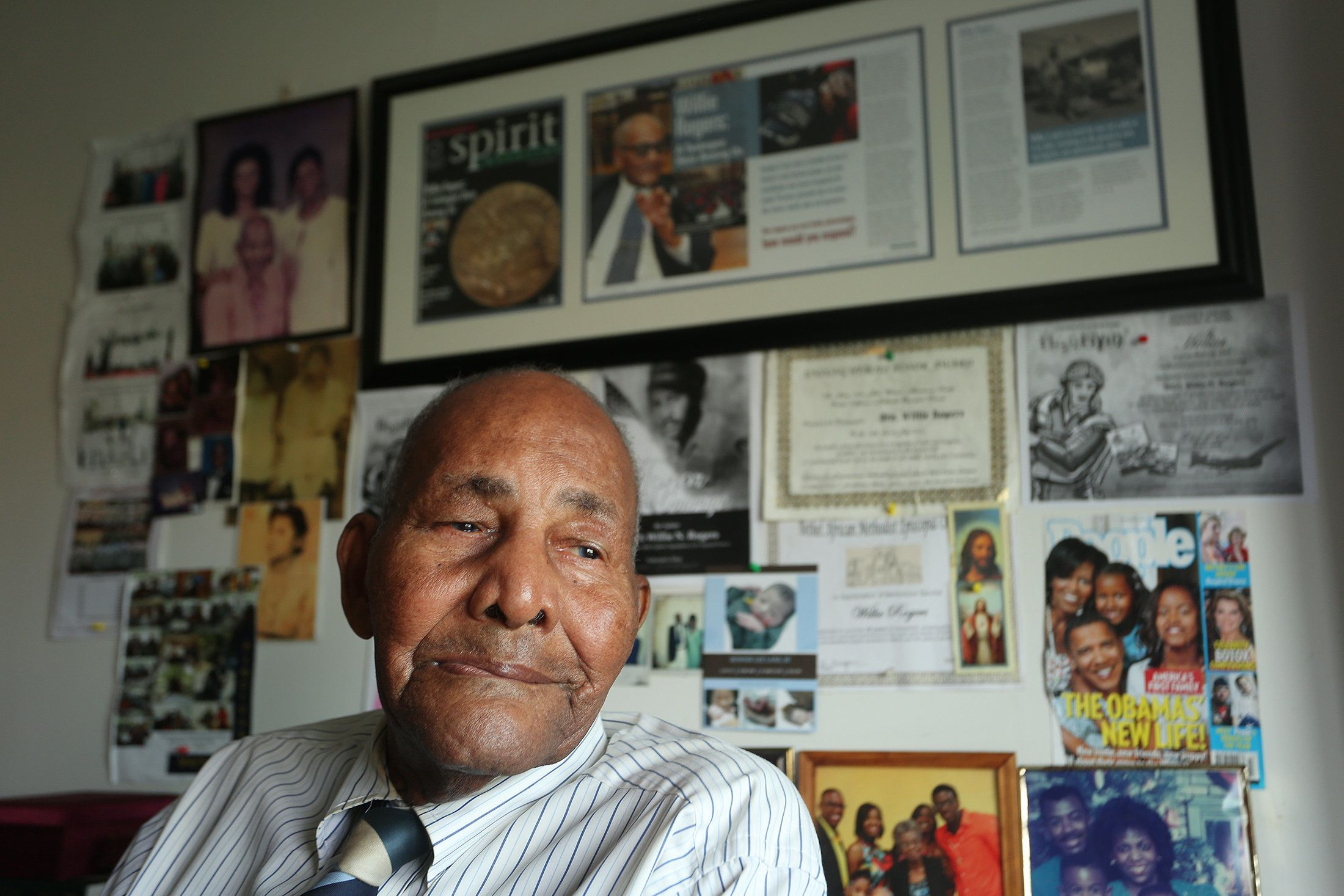Feb. 23, 2015 - St. Petersburg, Florida, U.S. - SCOTT KEELER   |   TIMES.Willie Rogers, 99, who is considered one of the original Tuskegee Airmen, will turn 100 years-old on March 4. He reflects on his service and his life at home in St. Petersburg. (Credit Image: � Scott Keeler/Tampa Bay Times/ZUMA Wire)