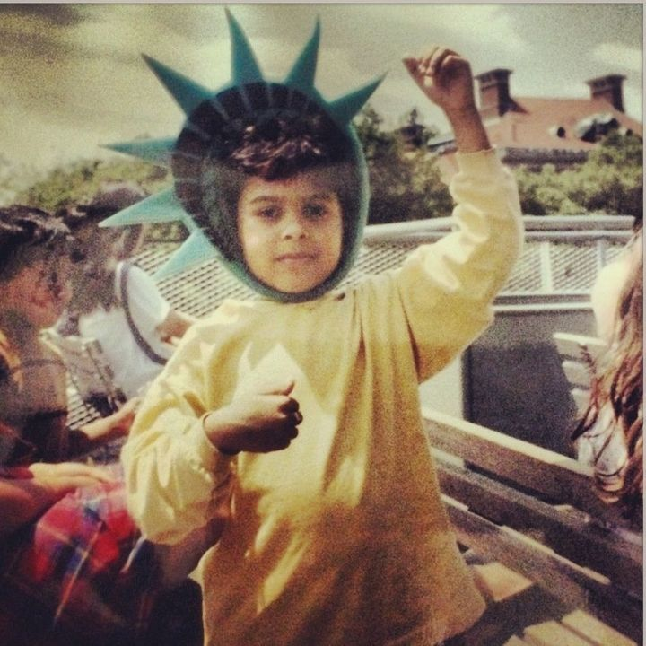 On my first trip to the Statue of Liberty