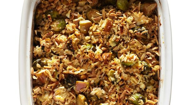 """We love <a href=""""http://www.oprah.com/food/Raw-Brussels-Sprout-Salad-with-Almonds-and-Parmesan"""" target=""""_blank"""">shaved Brusse"""