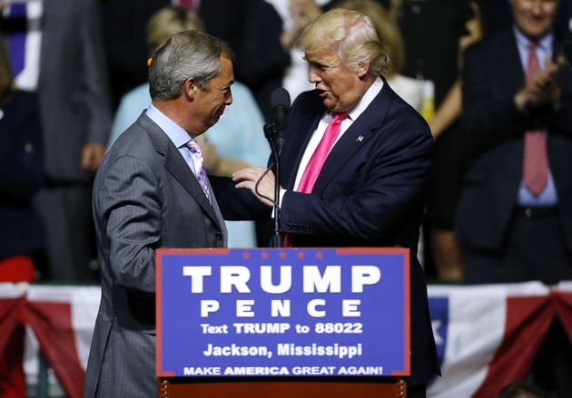 Nigel Farage campaigned for Donald Trump on this year's US