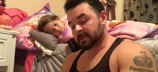 Determined Dad With Stutter Reads Bedtime Story To Daughter Until She Falls Asleep