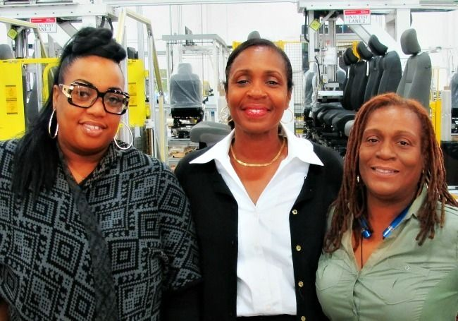 The ladies of Integrated Manufacturing & Assembly: Shakina Murphy, Jacqueline Daniels and Terrena Long.