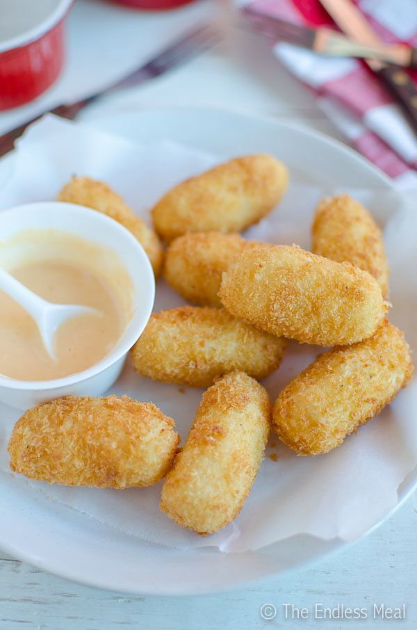 "<strong>Get this <a href=""http://www.theendlessmeal.com/potato-croquettes-with-sweet-sriracha-mayo/"" target=""_blank"">Potato C"
