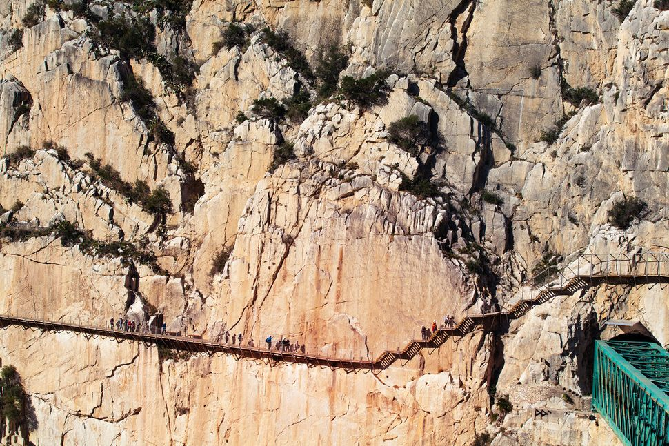 Caminito del Rey route in Malaga, Spain.