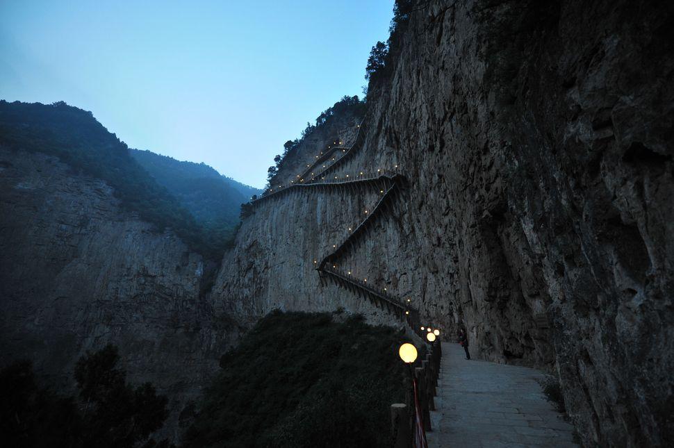 Mianshan walkway in Mianshan, Shanxi province, China.