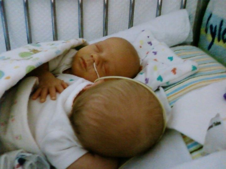 Kate McGowan's twins were born at 29 weeks.