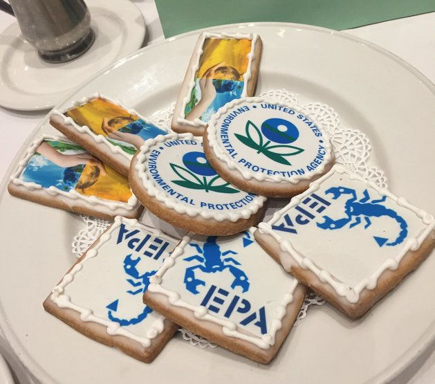 Cookies from a luncheon at the National Press Club featuring Environmental Protection Agency Administrator Gina McCarthy.