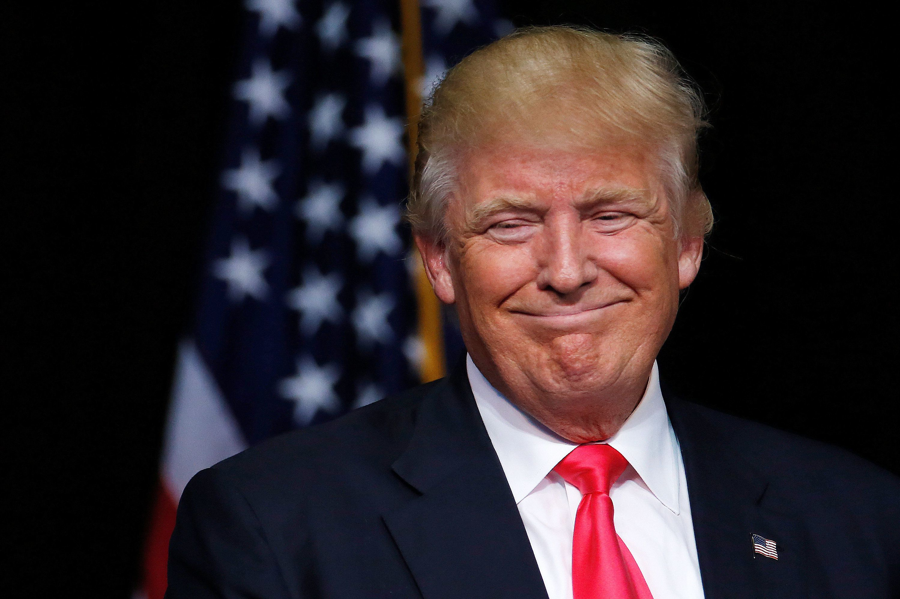 Republican presidential nominee Donald Trump speaks at a campaign rally in Scranton, Pennsylvania, U.S., July 27, 2016.  REUTERS/Carlo Allegri