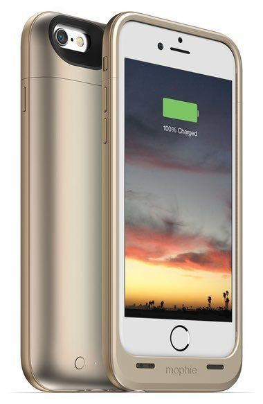 """Mophie Juice Pack Air iPhone 6/6s Charging Case, $99.95 at <a href=""""http://shop.nordstrom.com/s/mophie-juice-pack-air-iphone-"""