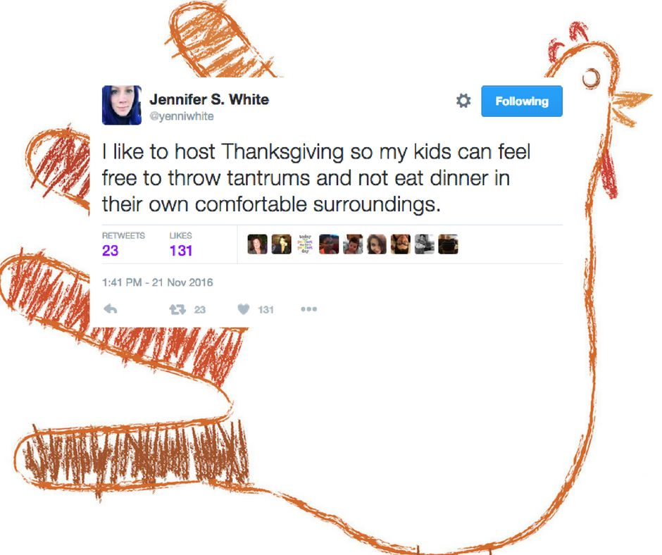 The Funniest Thanksgiving Tweets From Parents