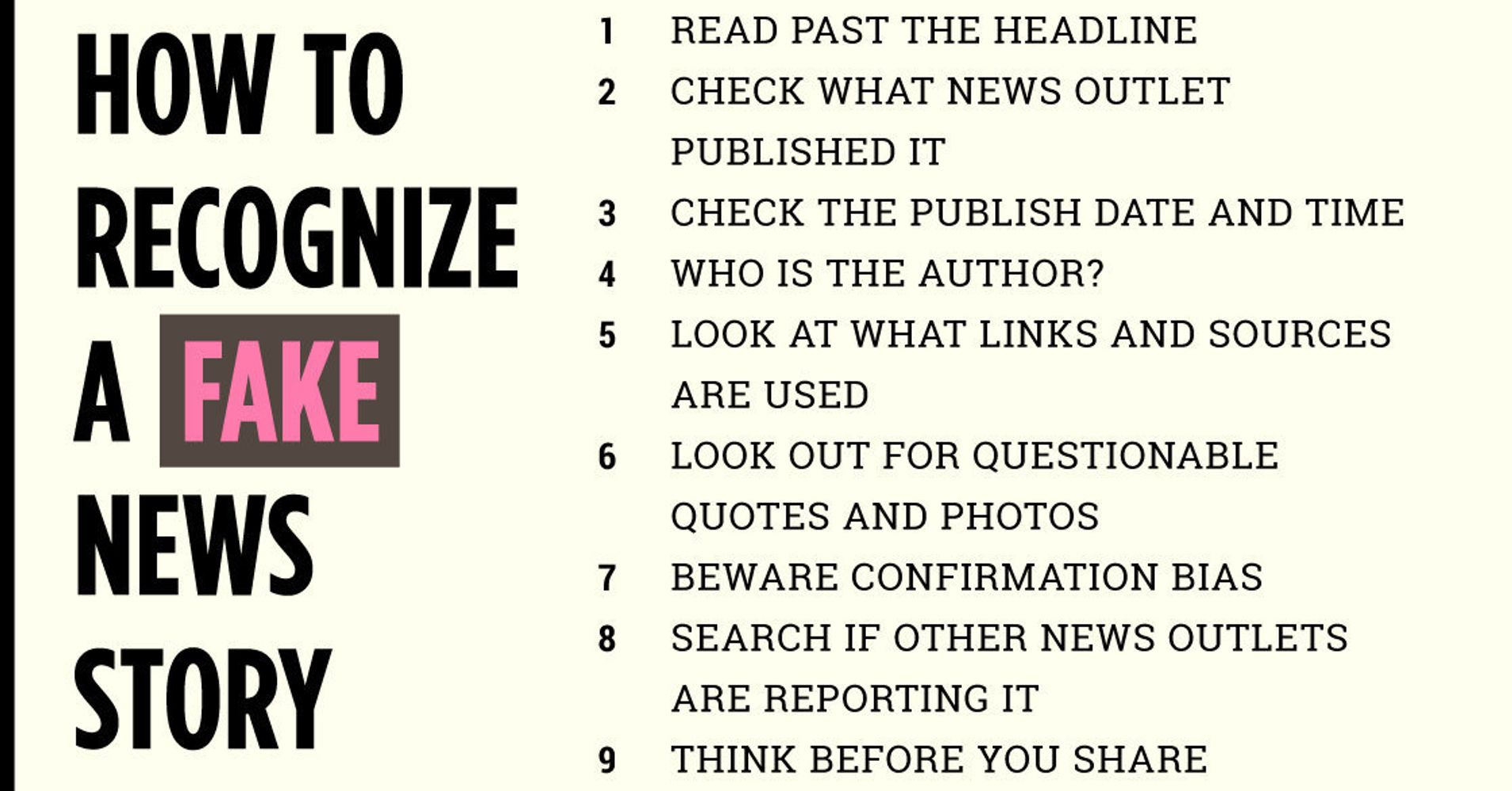 how to recognize a fake news story huffpost
