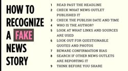 How To Recognise A Fake News