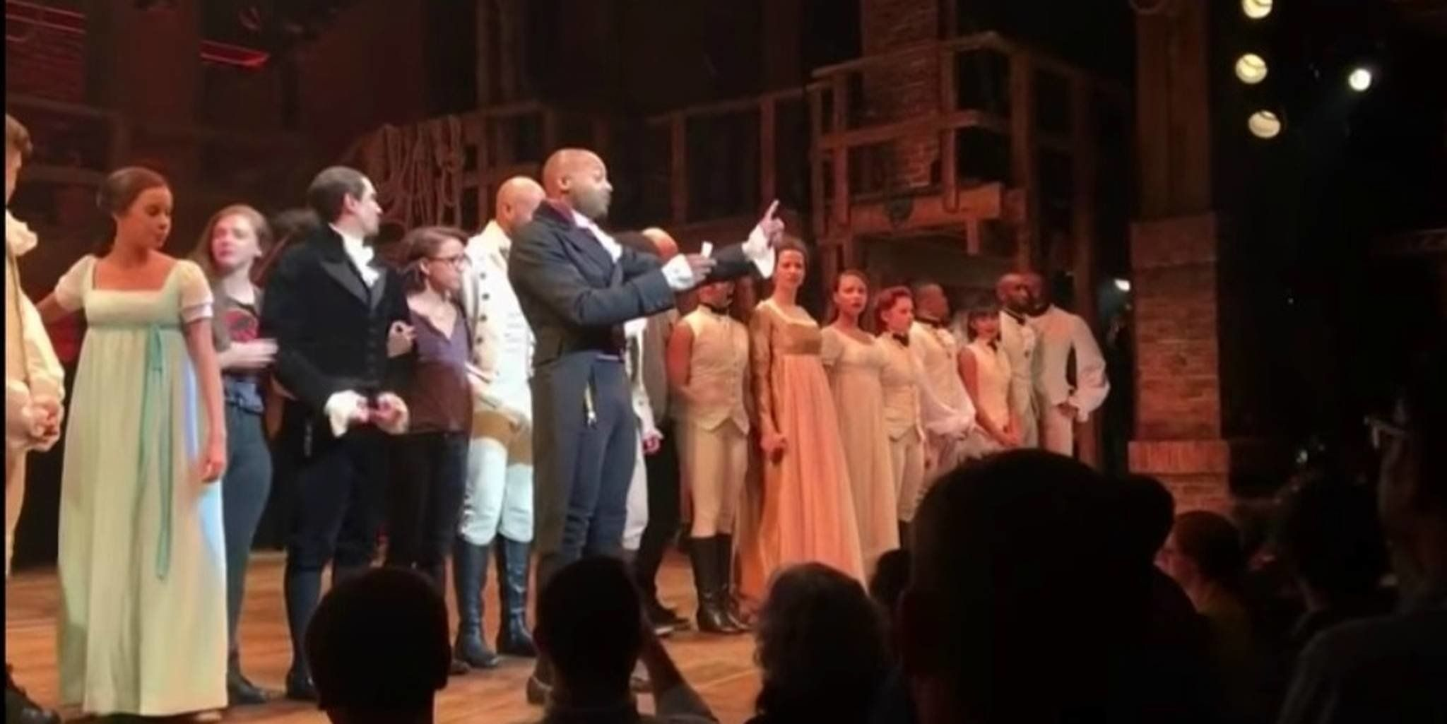 The Hamilton cast speaking to Vice President-elect Mike Pence