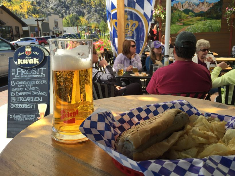 Prosit is the place for elk and buffalo sausages washed down with European beers.