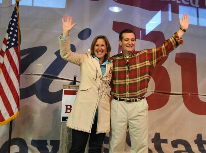 State Sen. Konni Burton, sponsor of the legislation, appears with U.S. Sen. Ted Cruz at a rally in 2014.