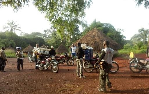 A mobile team from Doctors Without Borders arrives in a village in the northeast region of the Democratic Republic of Co