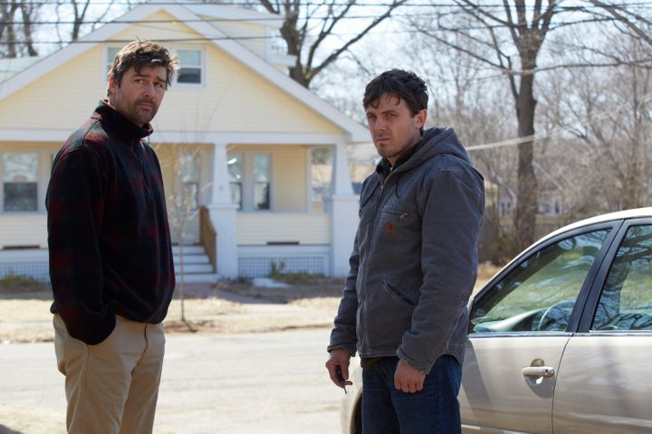 """Kyle Chandler and Casey Affleck star in a scene from """"Manchetster by the Sea."""""""