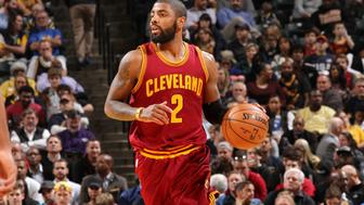 INDIANAPOLIS, IN - NOVEMBER 16: Kyrie Irving #2 of the Cleveland Cavaliers handles the ball during the game against the Indiana Pacers on November 16, 2016 at Bankers Life Fieldhouse in Indianapolis, Indiana. NOTE TO USER: User expressly acknowledges and agrees that, by downloading and or using this Photograph, user is consenting to the terms and conditions of the Getty Images License Agreement. Mandatory Copyright Notice: Copyright 2016 NBAE (Photo by Ron Hoskins/NBAE via Getty Images)
