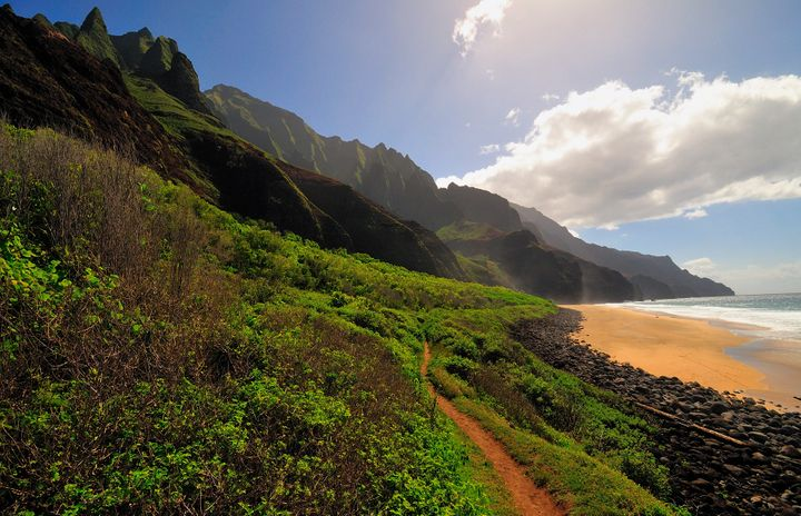 Kalalau Beach, at the end of the trail.