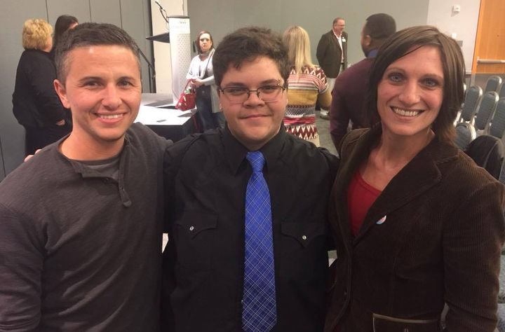 <p>Dr. Dominic Squillace (My hubby), Gavin Grimm and Me</p>