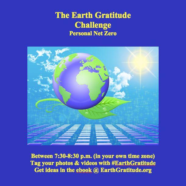 Take the #EarthGratitude Challenge this #Thanksgiving.