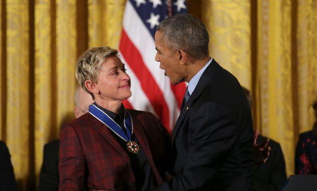 「あなたのカミングアウトは、国を正しい方向へ導いた」エレン・デジェネレス、オバマ大統領の言葉に涙